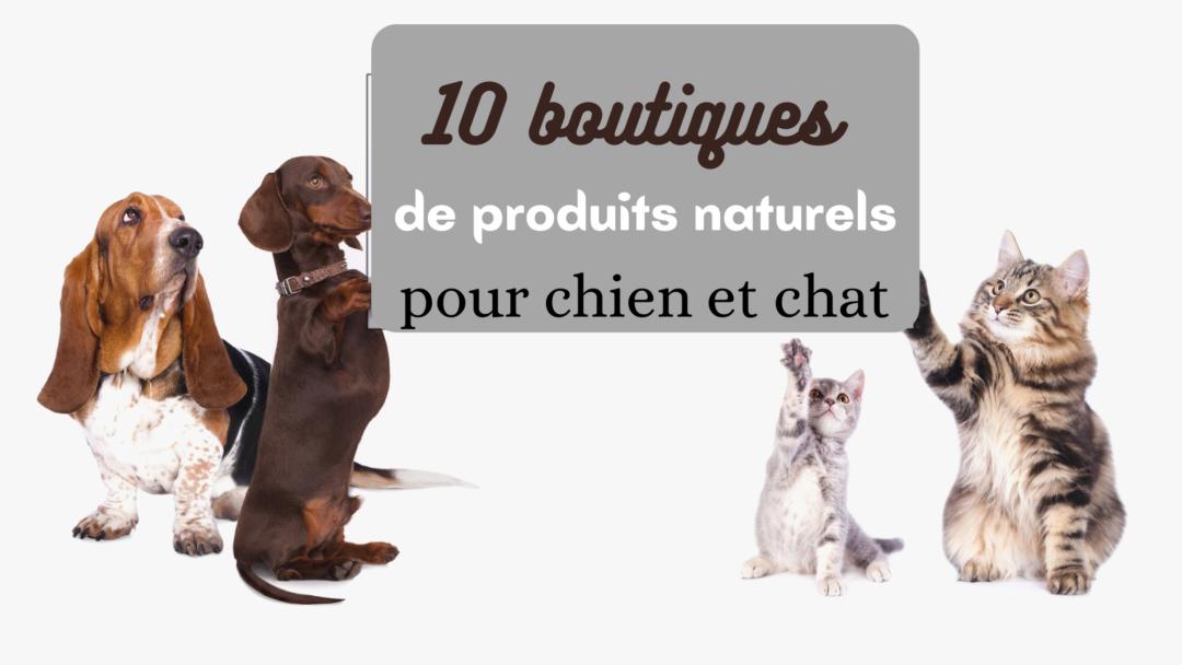 découvrez ma sélection de 10 boutiques de produits naturels pour chien et chat